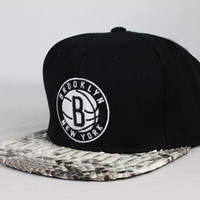 Custom Strapback™ Brooklyn Nets (Black) | FreshRepublik.com