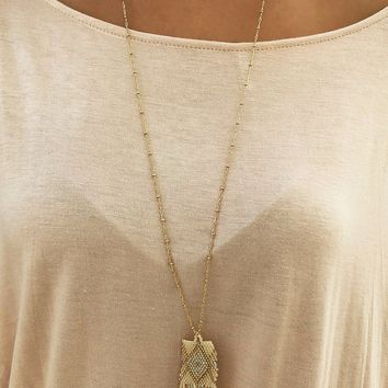 Over The Hill Necklace: Gold/Multi