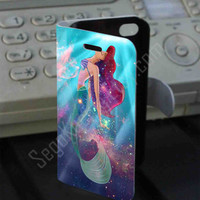 Ariel the Little Mermaid on Galaxy Nebula Leather Folio Case for iPhone and Samsung Galaxy