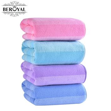New 2017 Absorbent Microfiber Towel -- 70*140cm Bath Towel Quick-Drying Stripe Towels Spring/Autumn Swimming Spa Towel for Adult