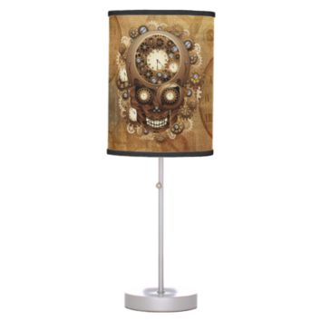 Steampunk Skull Vintage Style table_lamp Desk Lamps