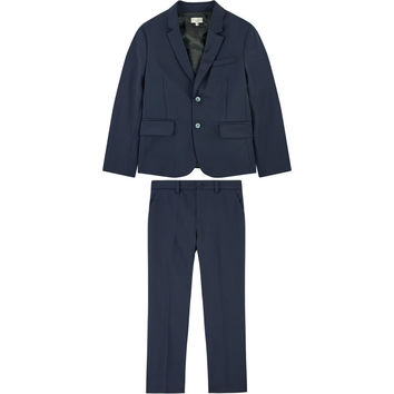 Paul Smith Boys Navy Blue Wool Suit