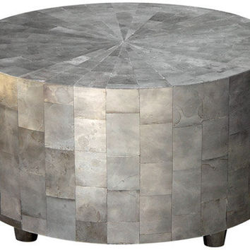 oly studio adeline coffee table silver resin round