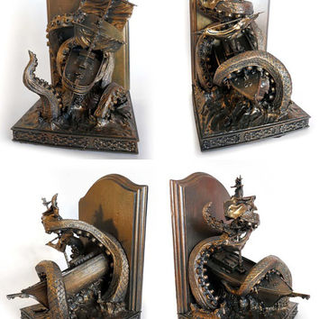 Kraken Bookends, Limited Edition