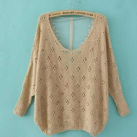 Bqige Sexy Sweater with Lace Back$42.00