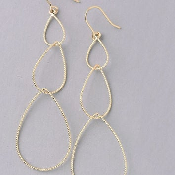 Tear Drops Dangle Earring