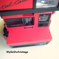 Vintage Polaroid Black and Red Cool Cam 600