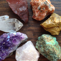 Chakra Crystal Healing Crystals and Stones Rainbow Crystals Meditation Stones Crystal Set Crystal Collection Bohemian Decor Gypsy Gift Om