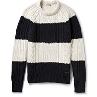 Burberry Brit - Striped Wool and Cashmere-Blend Sweater | MR PORTER