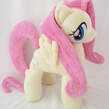 "Mlp Fim Open Commission 17"" FLUTTERSHY Minky Custom Plush"