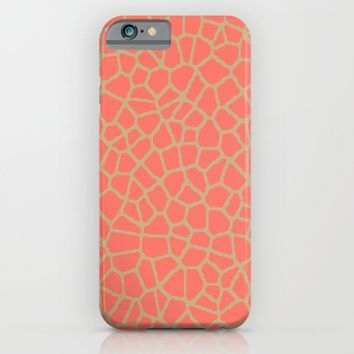 staklo (peach with coffee) iPhone & iPod Case by Trebam | Society6