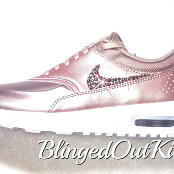 e069a90a4c Bling Nike Air Max Thea Limited Edition in Metallic Rose Gold with hand  placed Swarovski crystal