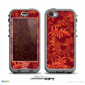 The Vector Fall Red Branches Skin for the iPhone 5c nüüd LifeProof Case
