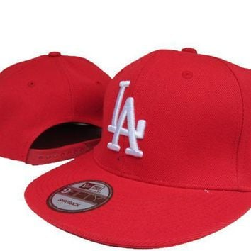 PEAPON Los Angeles Dodgers New Era MLB 9FIFTY Cap Red-White