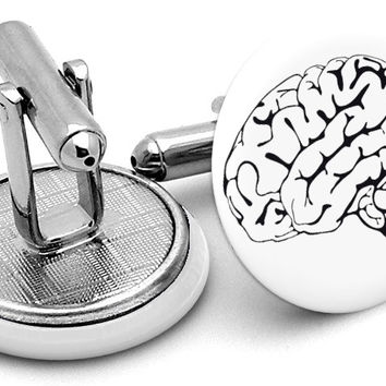 Science Brain Cufflinks
