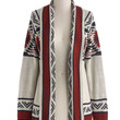 ModCloth Folk Art Long Long Sleeve Red Rock Canyon Cardigan in Rust