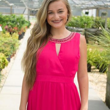 Fantastic in Fuchsia Maxi Dress