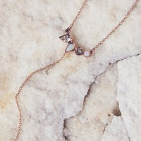 Free People Raw Stone x Diamond Lariat