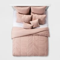 Blush Brielle Rouche Blush Comforter Set (Queen) 8pc