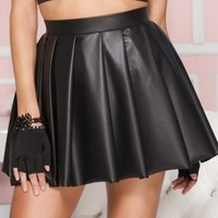High Waisted Pleated Skirt - Tragic Beautiful buy online from Australia