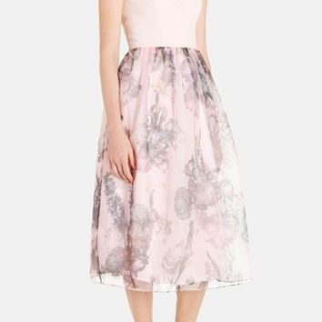 Women's Ted Baker London 'Faunia Torchlit' Floral Print Midi Dress,
