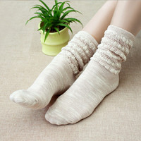 Hot sale winter thicken women's cotton sock Japanese fashion heap of socks Absorb sweat antibacterial breathable hosiery