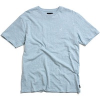 Un Polo Chest Slub T-Shirt Heather Blue
