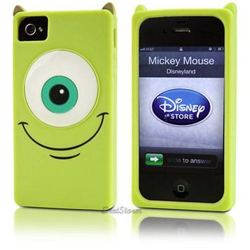 Licensed cool NEW Disney Store EXC. Monsters Inc MIKE University iPhone 4/4S Phone Case Cover