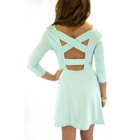 Pasadena Mint Cross Back Dress