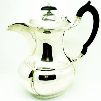 Solid Silver Coffee Pot, Sterling, Heavy Gauge, Vintage, English, Emile Viner, Hallmarked Sheffield 1931, REF:226Q1