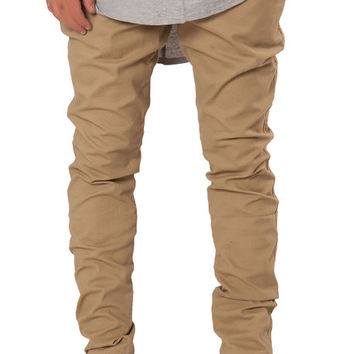 The Tapered Stretch Twill Chino Pants in Khaki