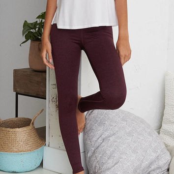 Aerie Play Legging, Deep Plum