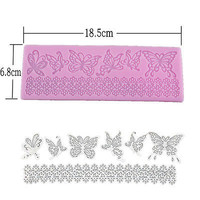 Silicone Butterfly Lace Fondant Cake Mould Baking Mold Chocolate DIY Craft Tool