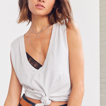 Truly Madly Deeply Knot Front Tank Top | Urban Outfitters
