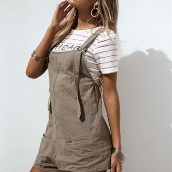Winnie Overalls - Khaki - Playsuits by Sabo Skirt