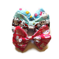Four Pack Large Hello Kitty Hair Bows