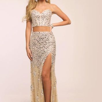 Jovani Beaded Long Dress 98045