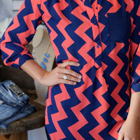 Easy On The Eyes {Coral + Navy}