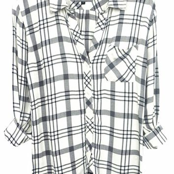 Rails Hunter Plaid Shirt in White/Nightfall