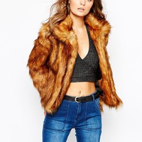 Glamorous Grizzly Faux Fur Coat
