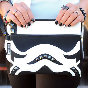 Take The World By Storm! Clutch Bag With Wristlet |  Star Wars Stormtrooper Inspired | Purse | Geek Chic