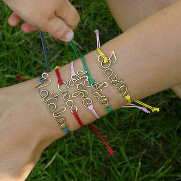 Personalized bracelet, your name, your text, colorful