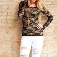 Essential Lace Top - Black