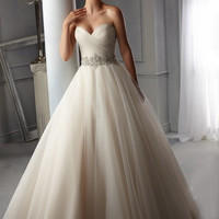 New Design A line Perfect Belt Robe De Mariage Strapless Lace Up Wedding Dresses R456