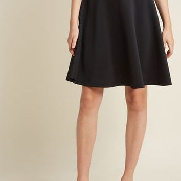 En Pointe Accompanist A-Line Skirt in Black in 3X