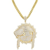 Blood Money Chief Keef with Thorns Pendant Hip Hop