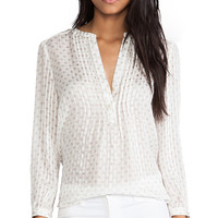 Marc by Marc Jacobs Mini Diamond Crinkle Blouse in Ivory