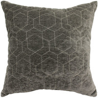HEXAGON QUILT ONYX 18X18