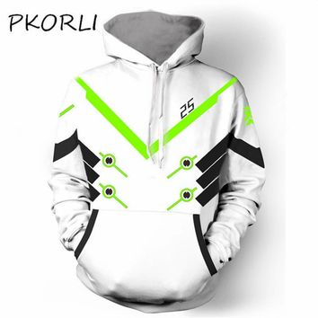 Fashion Hoodies Men Sweatshirt Cosplay Game OW Genji Deadpool SOLDIER 76 Hoodie Casual Jacket Coat Pullover Hoody