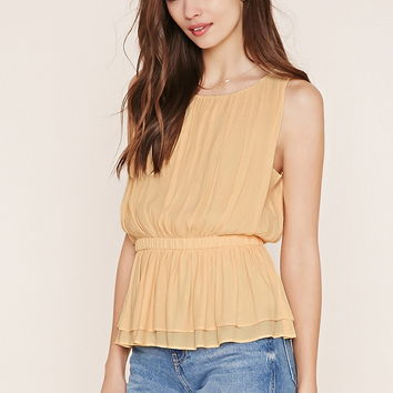 Contemporary Shirred Top